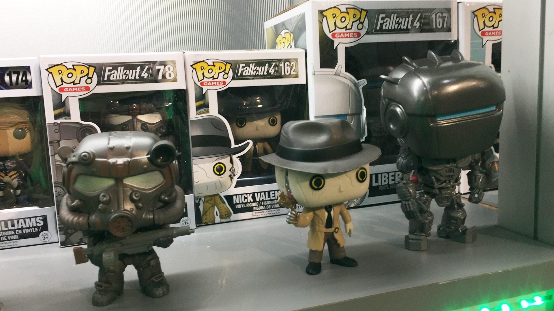 Funko Pop Fallout 4 with T-60 Power Armor #78, Nick Valentine #162, Liberty Prime #167 Vinyl Figures at Toy Fair 2017