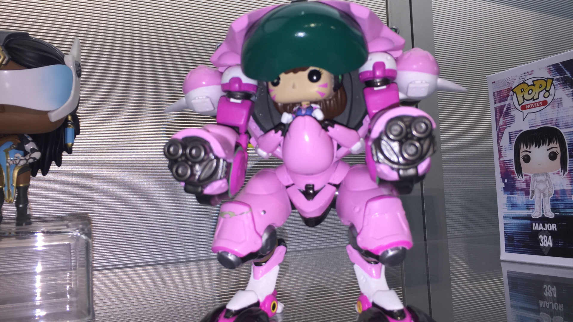 Funko Pop Overwatch D.VA with Meka Vinyl Figures at Toy Fair 2017