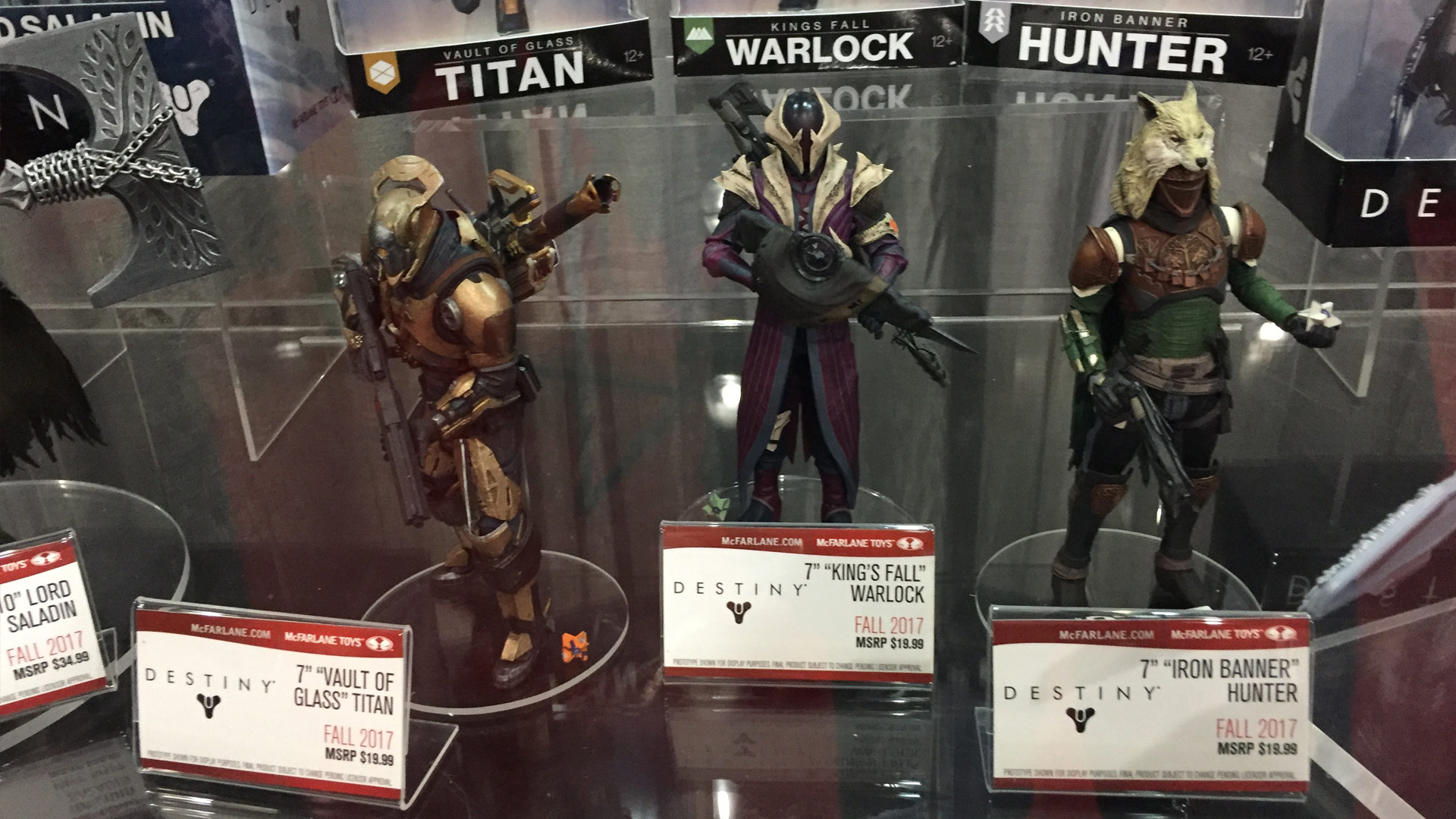 Destiny 2017 Figures at Toy Fair 2017 featuring Titan, Warlock and Hunter