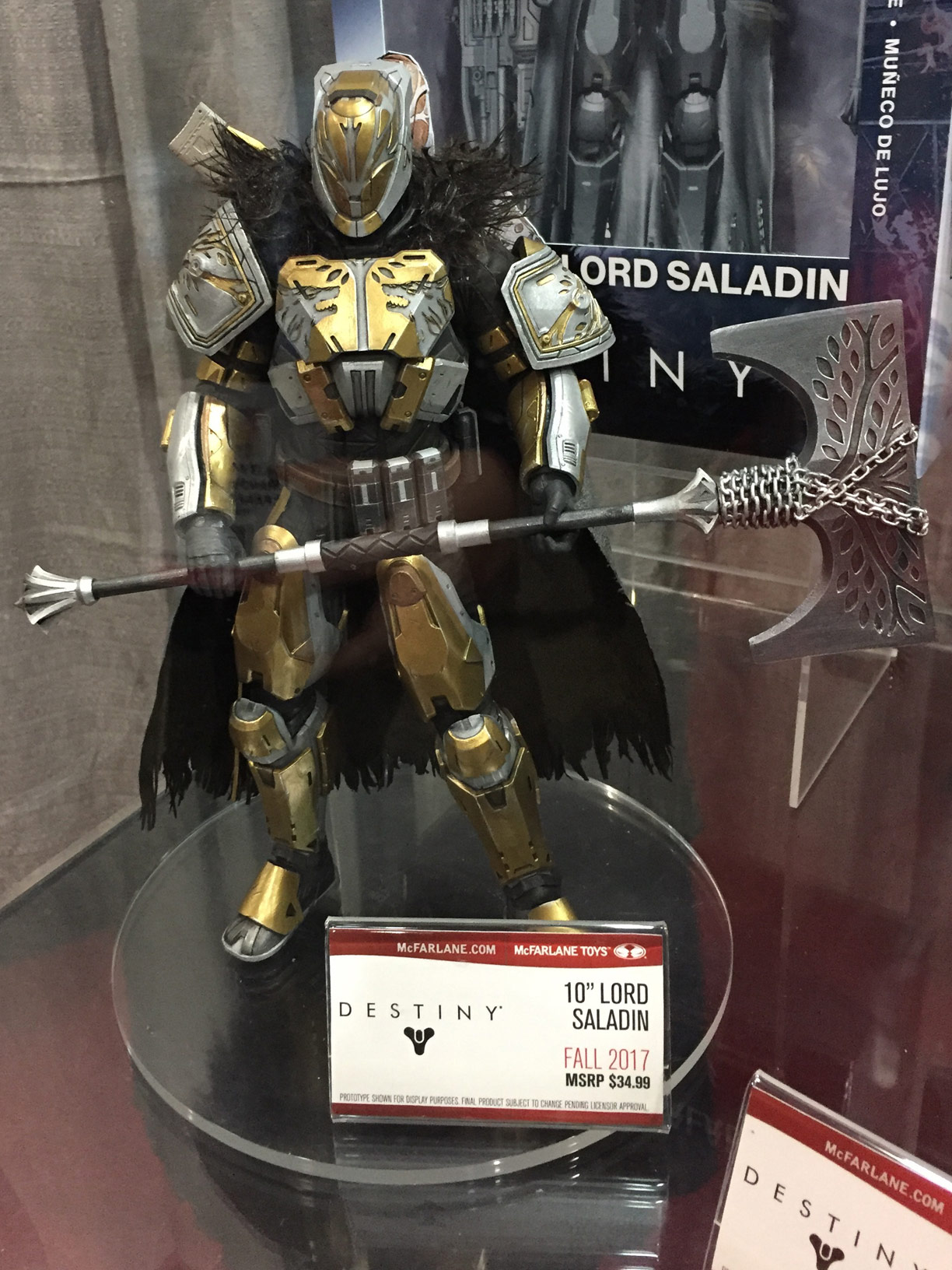 Destiny 2017 Lord Saladin Figure at Toy Fair 2017