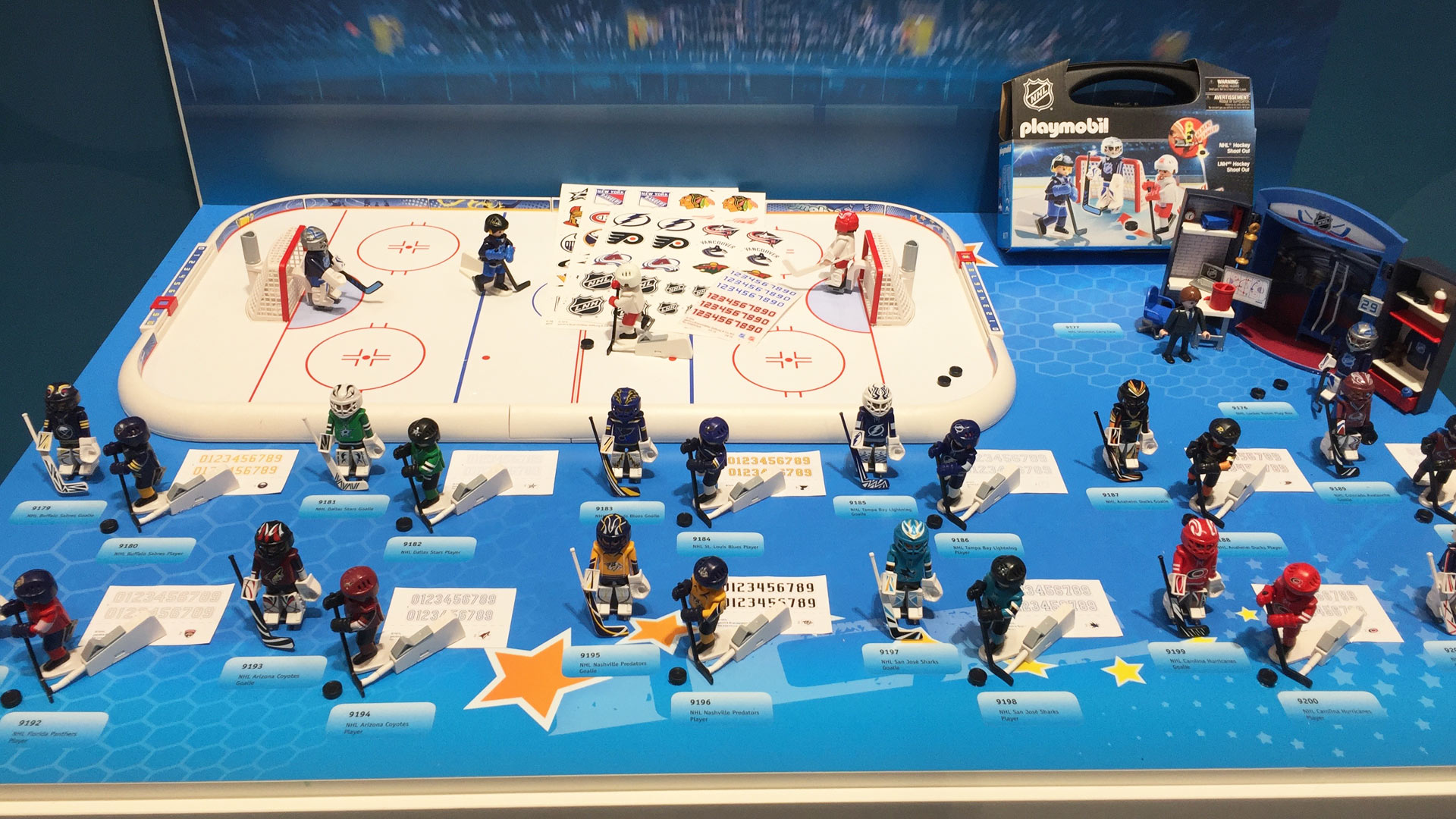 Playmobil Hockey NHL Set Skaters and Goalies at Toy Fair 2017