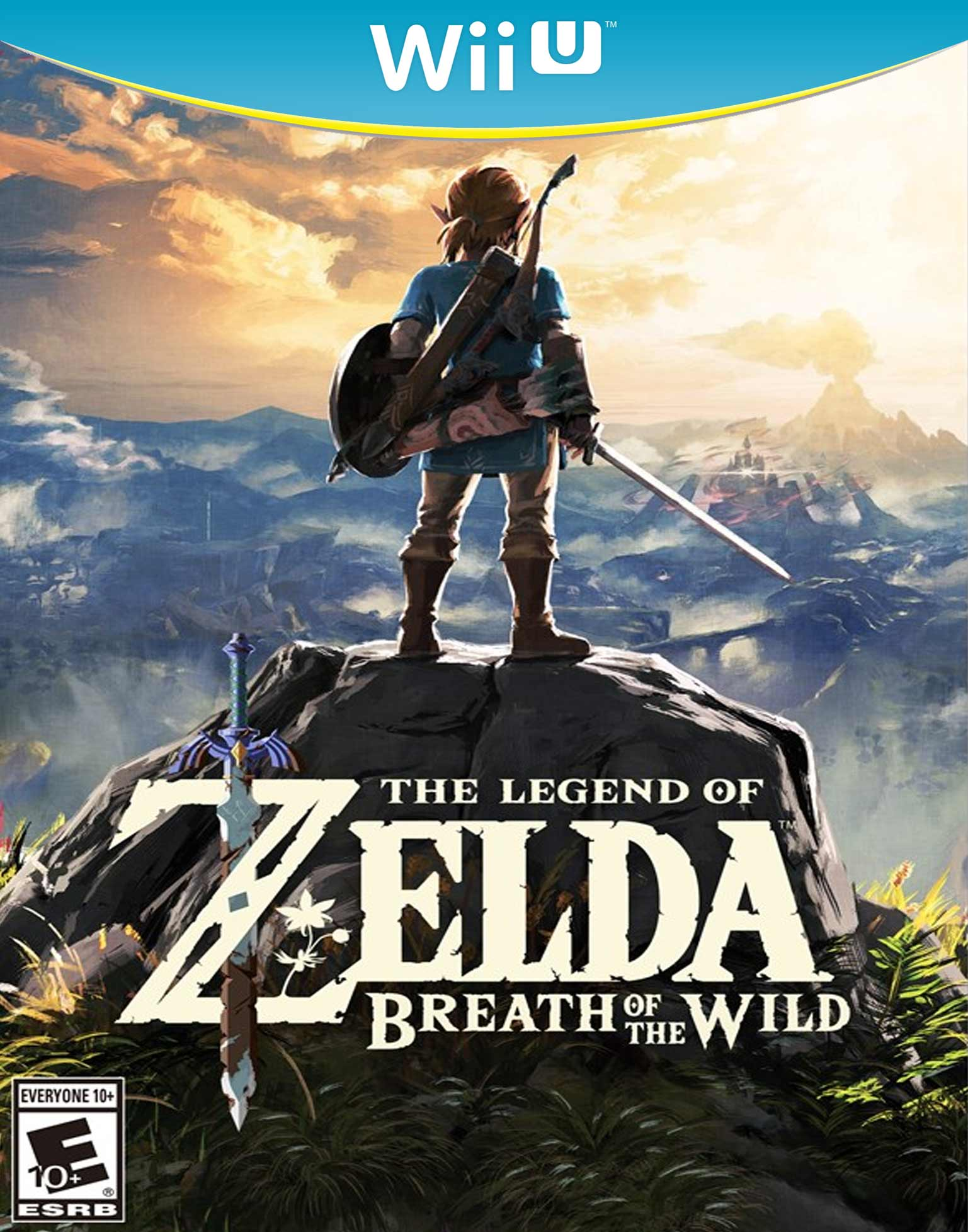 The Legend of Zelda: Breath of the Wild WiiU Box Art
