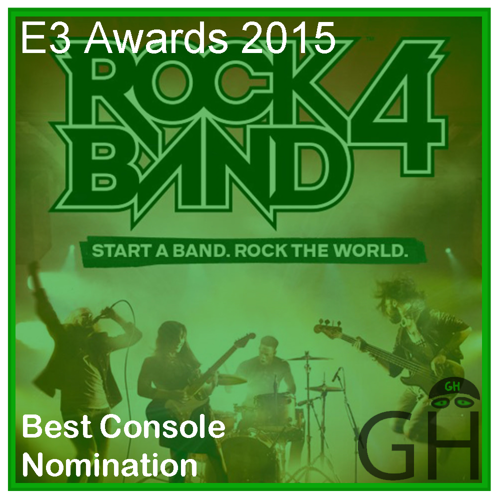 E3 Award Best Console Game Nomination Rock Band 4