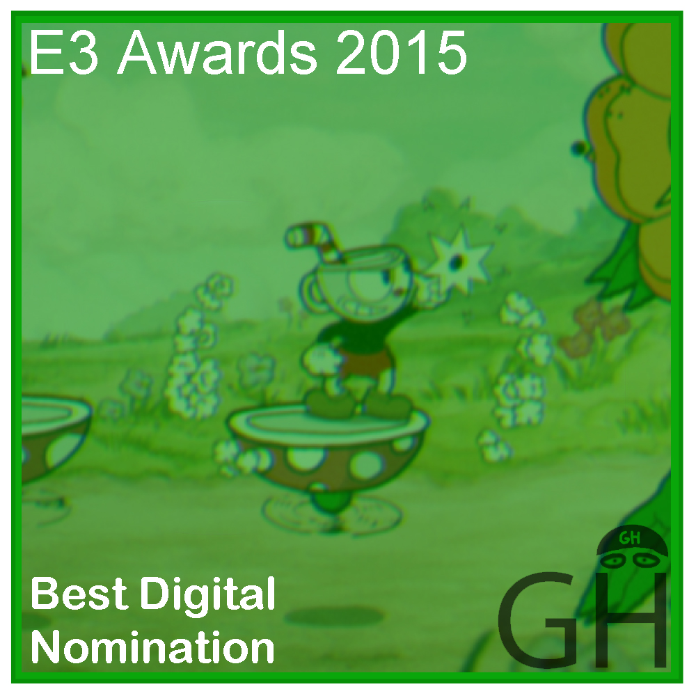 E3 Award Best Digital Game Nomination Cuphead