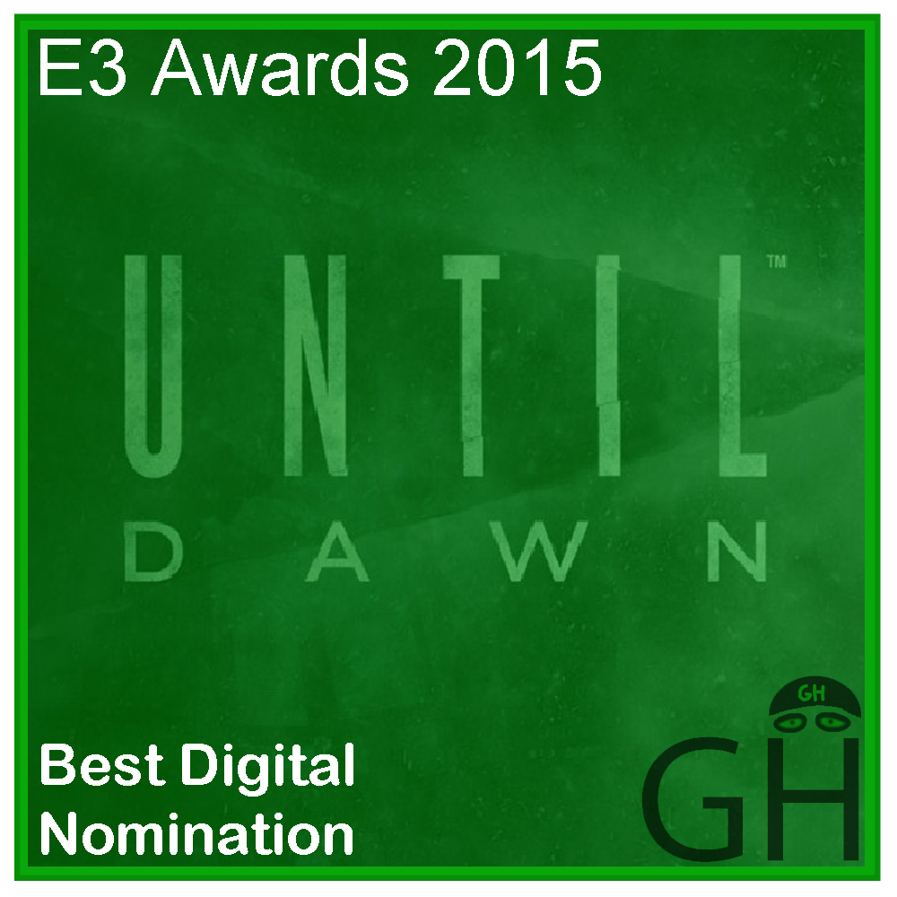 E3 Award Best Digital Game Nomination Until Dawn