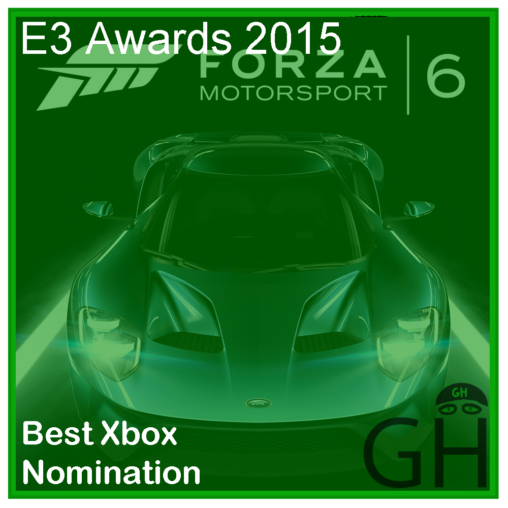 E3 Award Best Xbox Nomination Forza Motorsport 6